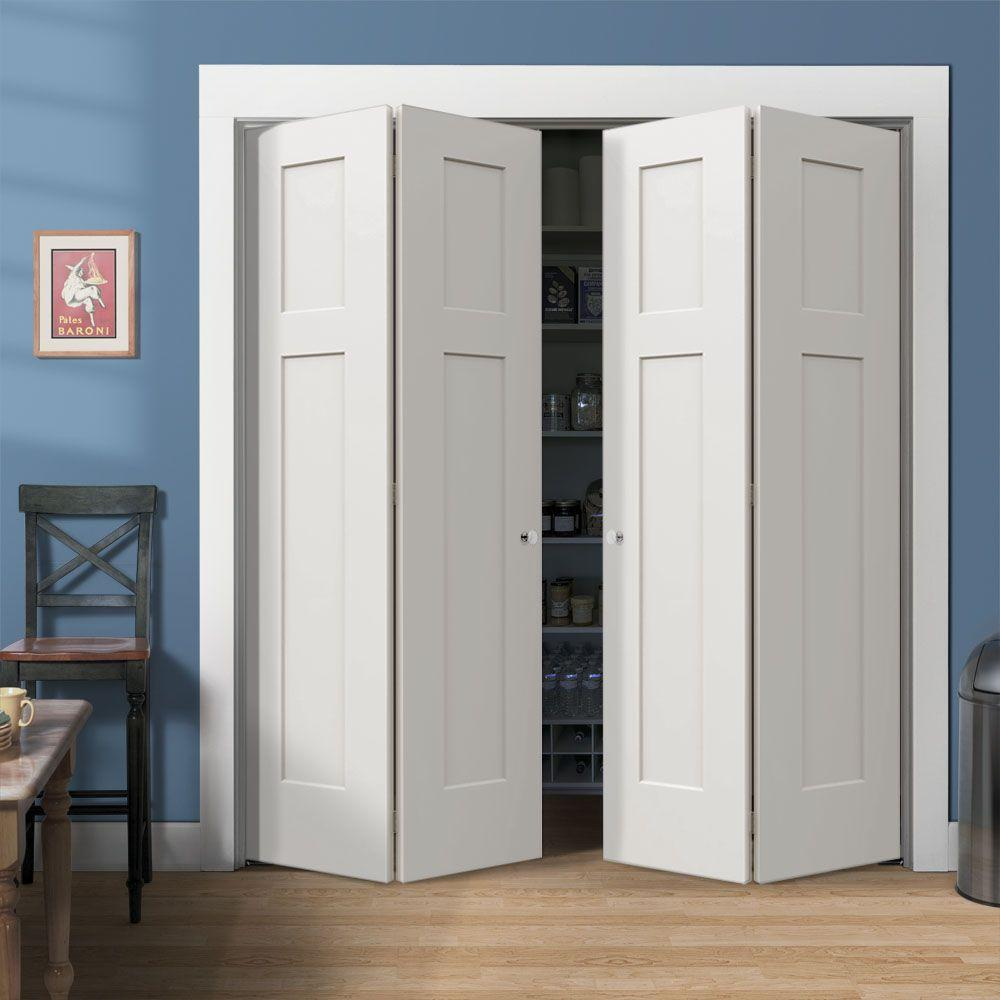 Folding doors closet folding doors home depot for Exterior closet doors